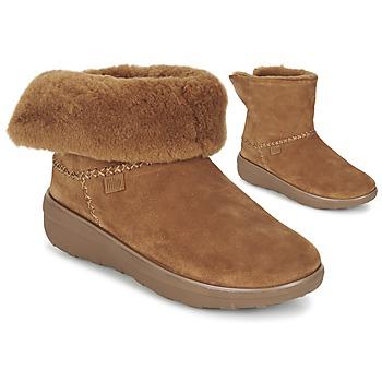 kengät Naiset Bootsit FitFlop SUPERCUSH MUKLOAFF SHORTY Pähkinä