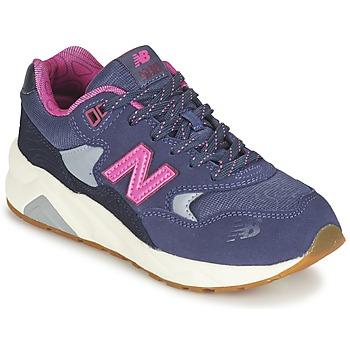 kengät Tytöt Matalavartiset tennarit New Balance KL580 Violet / Pink