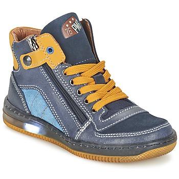 kengät Pojat Korkeavartiset tennarit Primigi ADAM-E Blue / Yellow