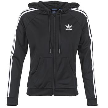 vaatteet Naiset Ulkoilutakki adidas Originals SLIM FZ HOODIE Black