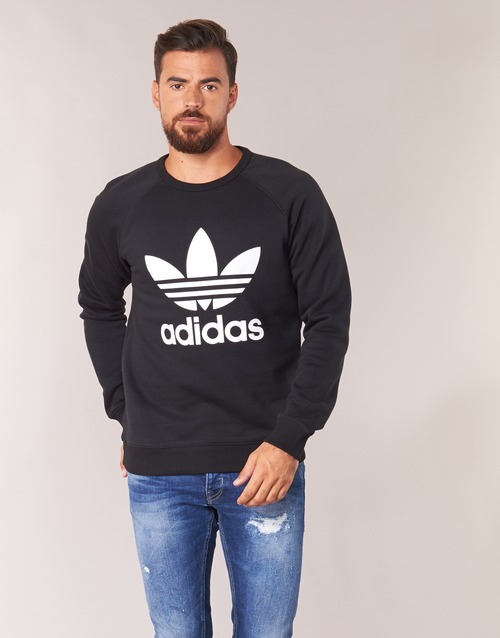 vaatteet Miehet Svetari adidas Originals TREFOIL CREW Musta