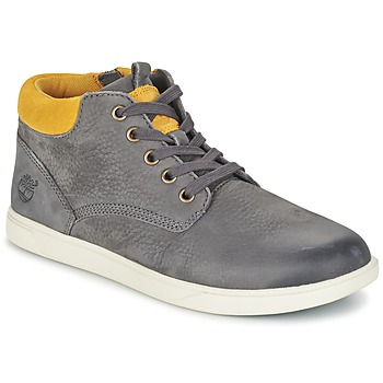 kengät Lapset Bootsit Timberland GROVETON LEATHER CHUKKA Grey