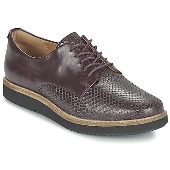kengät Naiset Derby-kengät Clarks GLICK DARBY Aubergine