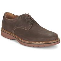 kengät Miehet Derby-kengät Clarks NEWKIRK PLAIN Brown