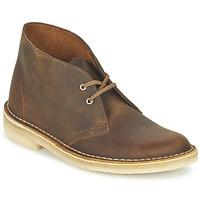 kengät Naiset Bootsit Clarks DESERT BOOT Brown