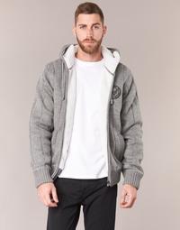 vaatteet Miehet Neulepusero Schott DUNLIN Grey