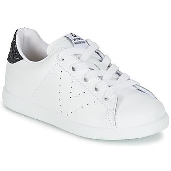 kengät Tytöt Matalavartiset tennarit Victoria DEPORTIVO BASKET PIEL KID White