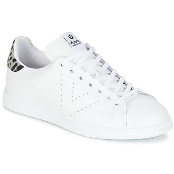 kengät Naiset Matalavartiset tennarit Victoria DEPORTIVO BASKET PIEL White