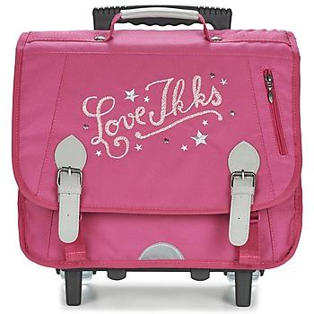 laukut Tytöt Pyörillä kulkevat koululaukut Ikks LOVE IKKS TROLLEY CARTABLE 38CM Pink