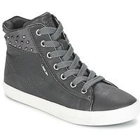 kengät Tytöt Korkeavartiset tennarit Geox KIWI GIRL Grey