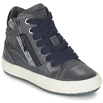 kengät Tytöt Korkeavartiset tennarit Geox WITTY Grey