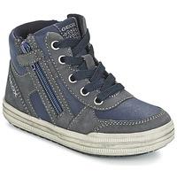 kengät Pojat Korkeavartiset tennarit Geox ELVIS Blue / Grey