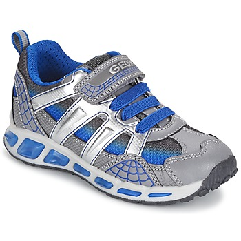 kengät Pojat Matalavartiset tennarit Geox SHUTTLE BOY Grey / Blue