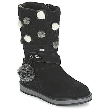 kengät Tytöt Saappaat Geox NOHA Black