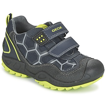 kengät Pojat Matalavartiset tennarit Geox NEW SAVAGE BOY Blue / Yellow