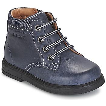 kengät Pojat Bootsit Geox B GLIMMER Blue