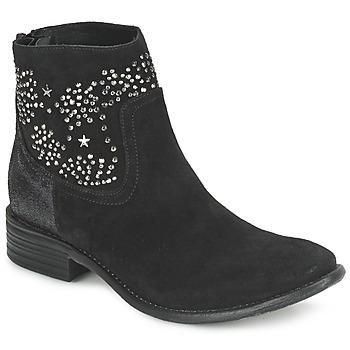 kengät Naiset Nilkkurit Meline VELOURS STARTER Black