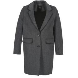 vaatteet Naiset Paksu takki Eleven Paris TABLEAUBIS Grey / Black