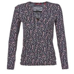 vaatteet Naiset T-paidat pitkillä hihoilla S.Oliver INIATE Laivastonsininen