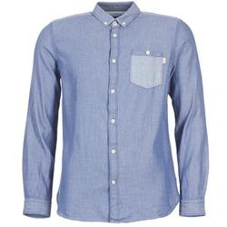 vaatteet Miehet Pitkähihainen paitapusero Tom Tailor INIDULLE Blue