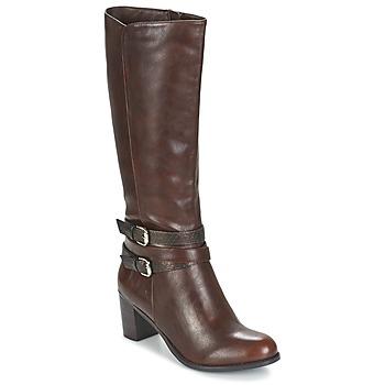 kengät Naiset Saappaat Moony Mood FARANDO Brown