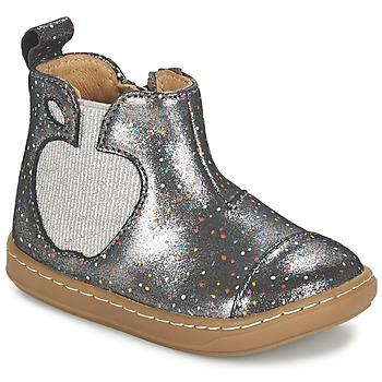 kengät Tytöt Bootsit Shoo Pom BOUBA APPLE Silver