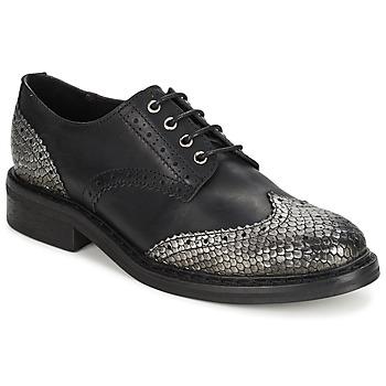 kengät Naiset Derby-kengät Koah LESTER MUSTA / Hopea