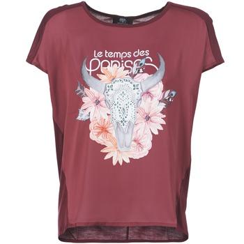 vaatteet Naiset Lyhythihainen t-paita Le Temps des Cerises CRANEFLO BORDEAUX