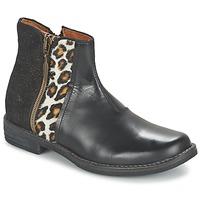 kengät Tytöt Bootsit Shwik TIJUANA WILD Black / Leopardi