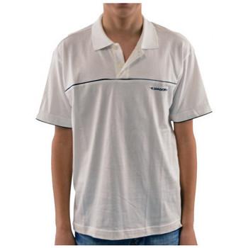 vaatteet Lapset Lyhythihainen poolopaita Diadora  Valkoinen