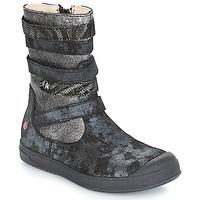 kengät Tytöt Saappaat GBB NOURIA Black / Metallinen