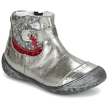kengät Tytöt Bootsit GBB NYMPHE Grey / Kuvioitu