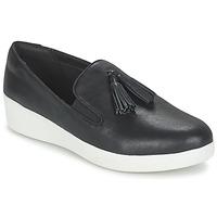 kengät Naiset Tennarit FitFlop TASSEL SUPERSKATE Black