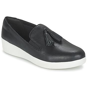 kengät Naiset Tennarit FitFlop TASSEL SUPERSKATE Musta