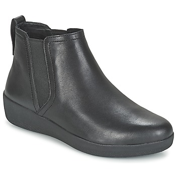 kengät Naiset Bootsit FitFlop SUPERCHELSEA BOOT Black