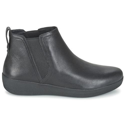 Fitflop Superchelsea Boot Black - Ilmainen Toimitus- Kengät Bootsit Naiset 111