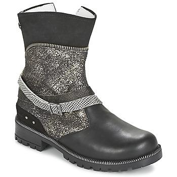 kengät Tytöt Bootsit Ikks ROBERTA Black / Grey