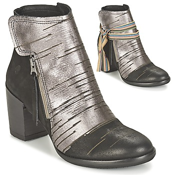 kengät Naiset Nilkkurit Felmini CARMEN Black / Silver