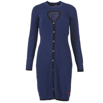 vaatteet Naiset Lyhyt mekko Love Moschino PESCARI Laivastonsininen