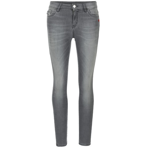 vaatteet Naiset Slim-farkut Love Moschino MANI Grey