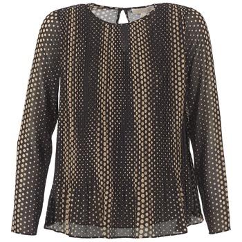 vaatteet Naiset Topit / Puserot MICHAEL Michael Kors OMBOBO Black / BEIGE