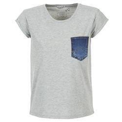 vaatteet Naiset Lyhythihainen t-paita Mustang SLV DENIM POCKET Grey