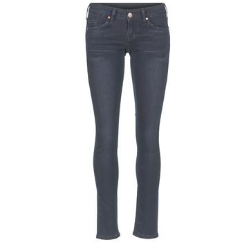 vaatteet Naiset Slim-farkut Mustang GINA Blue / Black