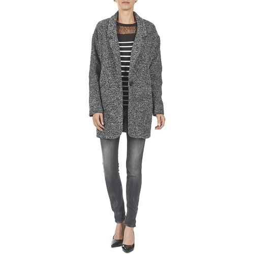 Betty London Fideloie Grey - Ilmainen Toimitus- Vaatteet Paksu Takki Naiset 18