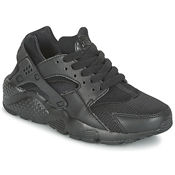 kengät Lapset Matalavartiset tennarit Nike HUARACHE RUN JUNIOR Black