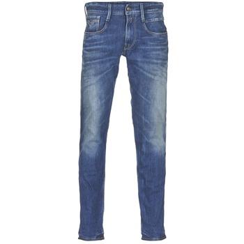 vaatteet Miehet Slim-farkut Replay ANBASS Blue