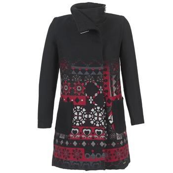 vaatteet Naiset Paksu takki Desigual JEFINITE Black / Red