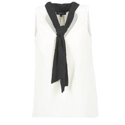 vaatteet Naiset Topit / Puserot Morgan OREA White / Black