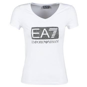 vaatteet Naiset Lyhythihainen t-paita Emporio Armani EA7 FOUNAROLA White
