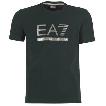 vaatteet Miehet Lyhythihainen t-paita Emporio Armani EA7 MAGGAROL Black
